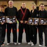 Hapkido - Dan-/Kupprüfung - Meister Guido Böse führt Schwerter Sportler zum Schwarzgurt
